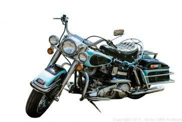 La Harley-Davidson FLH 1200 de 1976 d'Elvis sur le point d'être vendu aux enchères