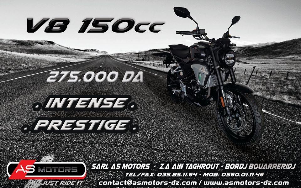 AS Motors dévoile la nouvelle V8 150cc