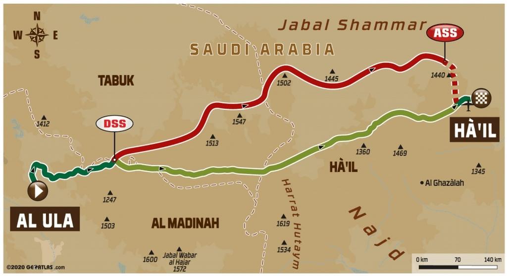 DAKAR 2020 – Stage 5 : de Al-`Ula à Ha'il