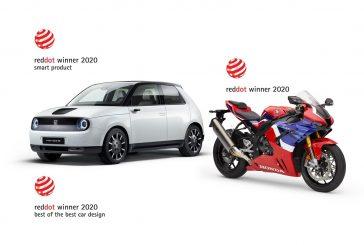 Trois distinctions « LES PRIX RED DOT DESIGN » décernées à Honda incluant le « BEST OF THE BEST » pour la Honda e