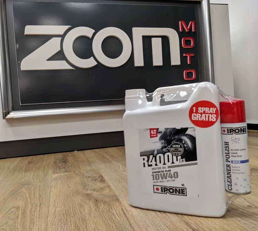 Ipone – Zoom Moto : Un Spray nettoyant offert, pour l'achat de l'huile moteur R4000 RS !