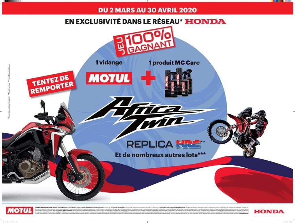 passage par l'atelier 100% gagnant avec Honda et Motul
