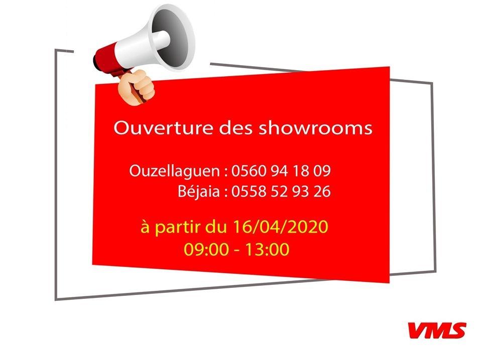 VMS Industrie réouvre ses Showroom de Bejaïa et Ouzellaguen !