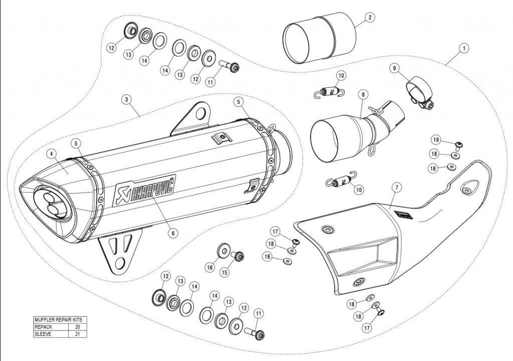 Akrapovic Slip-On Line Titanium - BMW C400X C400GT