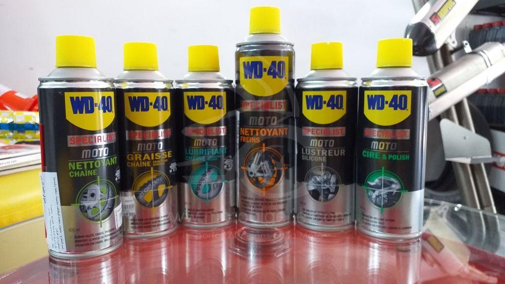 Beep Bike Moto propose une gamme complète de produits «WD-40 Specialist Moto »