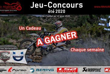 Jeu-Concours Été 2020 : gagnez un cadeau chaque semaine avec Moto Algérie !