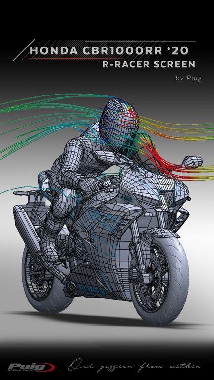 PUIG tests aérodynamiques de la HONA CBR1000RR 2020