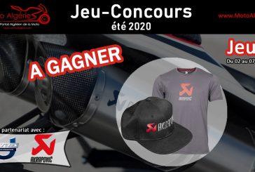 Jeu-Concours été 2020 - JEU#1 : Un T-Shirt et une Casquette AKRAPOVIC pour le gagnant !