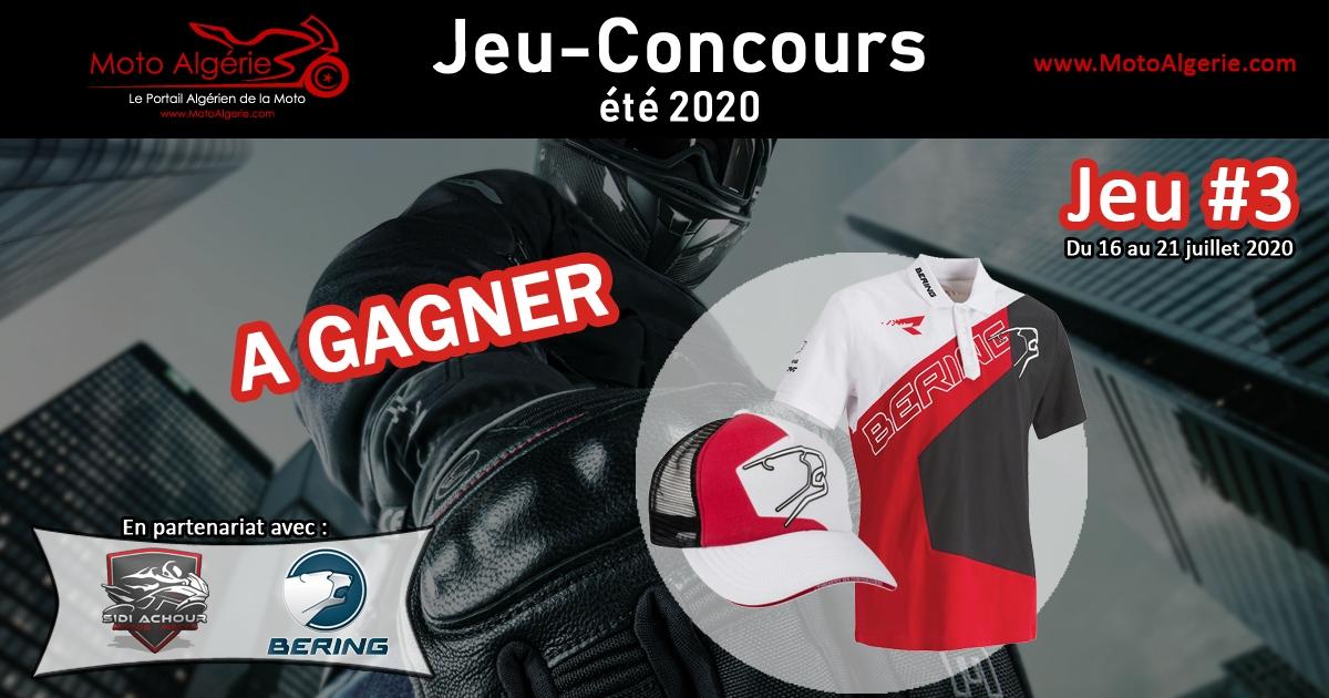 Jeu-Concours été 2020 – JEU#3 : Une Casquette et un Polo Bering Racing à gagner !