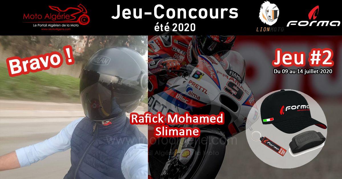 JEU-CONCOURS Moto Algérie – été 2020 : gagnant du JEU#2 avec Forma Boots Algérie !