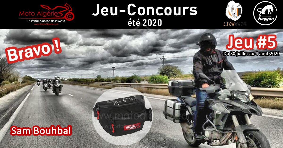 JEU-CONCOURS Moto Algérie – été 2020 : gagnant du JEU#5 avec Furygan Algérie !