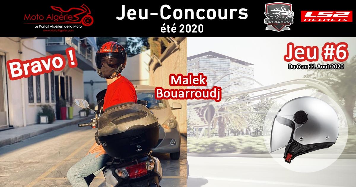 JEU-CONCOURS Moto Algérie – été 2020 : gagnant du JEU#6 avec LS2 Helmets Algérie !