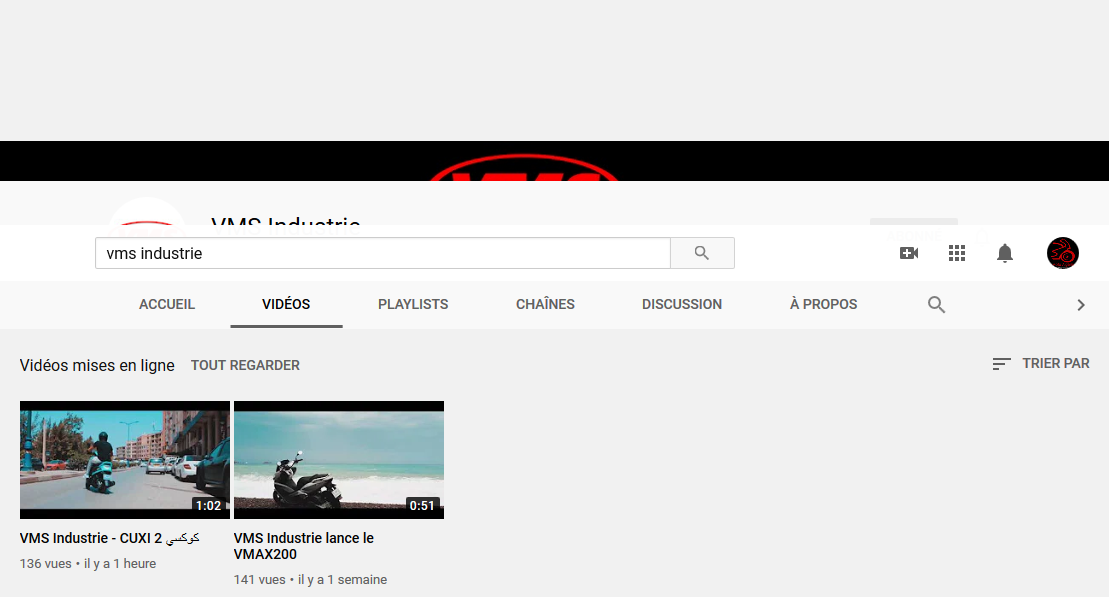 VMS Industrie lance sa chaine Youtube Officielle !