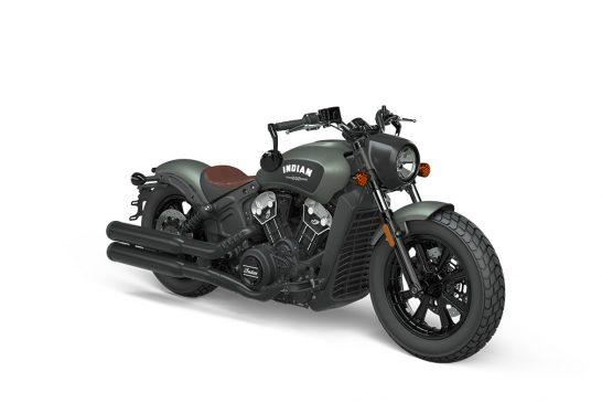 Indian Scoot Bobber 2021 - INTL_ABS_Alumina_Jade_Smoke_Front_3Q