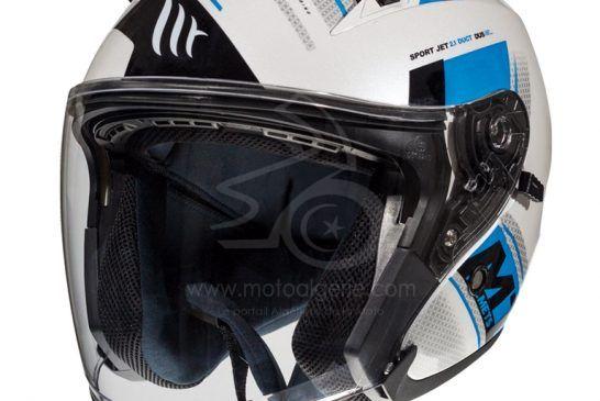 MT Helmets AVENUE SV SIdeway C7 GLOSS PEARL FLUOR BLUE