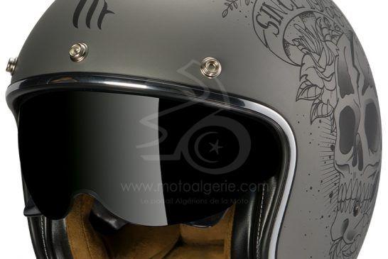 MT Helmets LE MANS 2 SV Skull & Roses A2 MATT GRAY