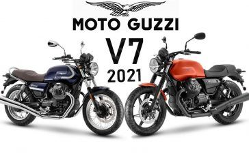 Moto Guzzi dévoile la nouvelle V7 2021, en deux versions : Stone et Special