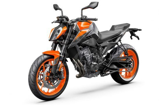 KTM 890 DUKE - Studio orange front left