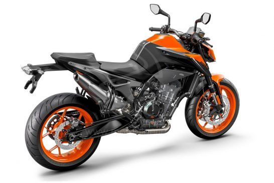 KTM 890 DUKE - Studio orange rear right
