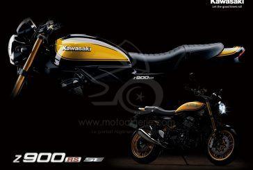 """Kawasaki : La Z900RS SE """"Yellow Ball"""" est dévoilée pour 2022 !"""